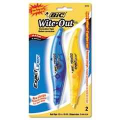 "Wite-Out Brand Exact Liner Correction Tape, Non-Refillable, Blue/Orange, 1/5"" x 236"", 2/Pack"