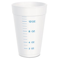 Graduated Foam Cup, 16 Ounces, 25 per Pack, 40 Packs/Carton
