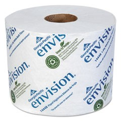 Envision High-Capacity Standard Bath Tissue, Septic Safe, 1-Ply, White, 1500/Roll, 48/Carton