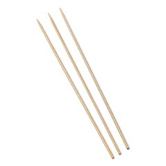 "Bamboo Skewers, 10"", 100/Pack, 10 Packs/Box, 12 Boxes/Carton"