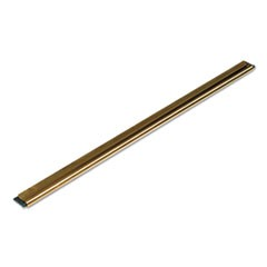 Golden Clip Brass Channel with Black Rubber Blade & Clip, 12 Inches, Straight