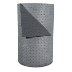 "High-Traffic Series Sorbent-Pad Roll, 63gal, 30"" x 300ft, Gray, 100/Pack"