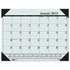 EcoTones Woodland Green Monthly Desk Pad Calendar, 22 x 17, 2016