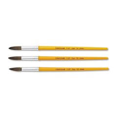 Watercolor Brush Set, Size 12, Camel Hair Blend, Round, 3/Pack