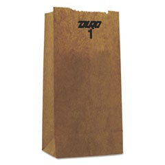 1# Paper Bag, 30-Pound Base Weight, Brown Kraft, 3-1/2x2-3/8x6-7/8