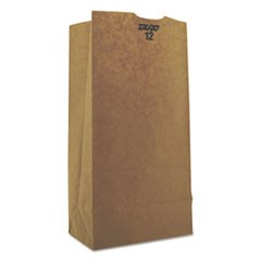 #12 Paper Grocery Bag, 50lb Kraft, Heavy-Duty 7 1/16 x 4 1/2 x 13 3/4, 500 bags