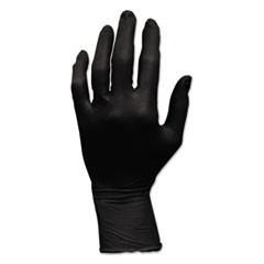 ProWorks GrizzlyNite Nitrile Gloves, Powder-Free, Large, Black, 100/Box,
