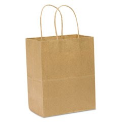Tempo Gift Bags, 8w x 4 1/2d x 10 1/4h, Kraft Brown, 250/pack