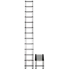 Aluminum Telescopic Extension Ladder, 16 ft, 300lb