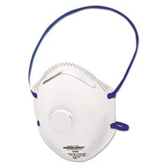 R10 Particulate Respirator, N95, White, One Size Fits All, 10/Box, 8/CT