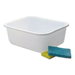 "Microban Dishpan, 4.5 gal, 14.5"" x 12.5"" x 5.7"", White, 6/Carton"