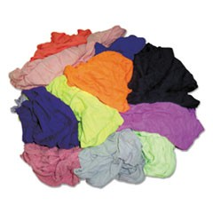 New Colored Knit Polo T-Shirt Rags, Multicolored, Multi-Fabric,10 lb Polybag