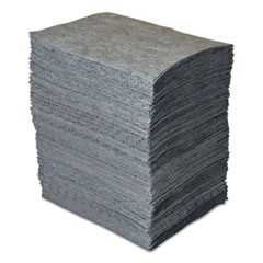 GP MAXX Enhanced Sorbent Pads, .138gal, 15w x 19l, Gray, 200/Bundle