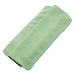 Lightweight Microfiber Cleaning Cloths, Green,16 x 16, 24/Pack
