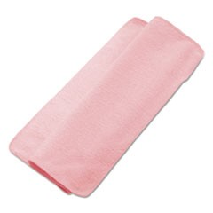 Lightweight Microfiber Cleaning Cloths, Pink, 16 x 16, 24/Pack
