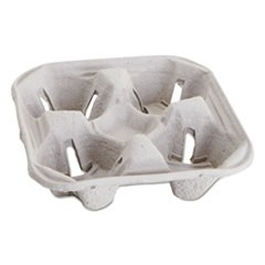 Carryout Cup Trays, 12-20oz, 4-Cup Capacity, 300/Carton