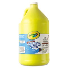Washable Paint, Yellow, 1 gal