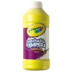 1Artista II Washable Tempera Paint, Yellow, 16 oz