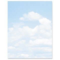 Design Paper, 24 lbs., Clouds, 8 1/2 x 11, Blue/White, 100/Pack