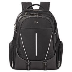 "Active Laptop Backpack, 17.3"", 12 1/2 x 6 x 18 3/4, Black"