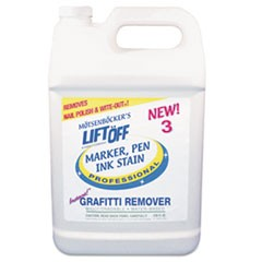 3 Ink Graffiti Remover, 1gal, Bottle, 4/Carton