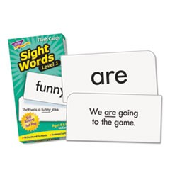 1Skill Drill Flash Cards, 3 x 6, Sight Words Set 1