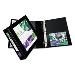 "Framed View Heavy-Duty Binders, 3 Rings, 2"" Capacity, 11 x 8.5, Black"