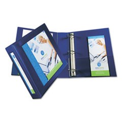 "Framed View Heavy-Duty Binders, 3 Rings, 2"" Capacity, 11 x 8.5, Navy Blue"