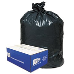 2-Ply Low-Density Can Liners, 40-45gal, .63 Mil, 40 x 46, Black, 250/Carton