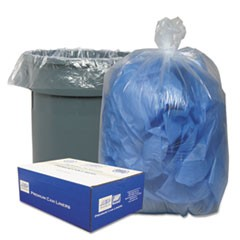 Clear Low-Density Can Liners, 30gal, .71 Mil, 30 x 36, Clear, 250/Carton