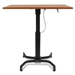 WorkFit-B Sit-Stand Workstation Base, Light-Duty, 60 lbs. Max Weight Cap, Black
