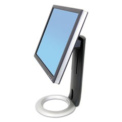 "Neo-Flex LCD Stand, For 24"" Monitors, 8.63"" x 11.5"" x 16"", Black/Silver, Supports 16 lb"