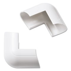 Clip-Over External Bend for Mini Cord Cover, White, 2 per Pack