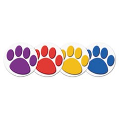 Wear 'Em Badges, Paw Prints, 32/Pack