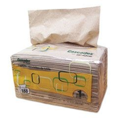 Cascades for ServOne Napkins, 1-Ply, 6 1/2 x 4 1/4, Natural, 188/Pk, 6016/Crtn