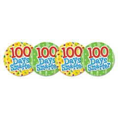 Wear 'Em Badges,100 Days Smarter, 32/Pack