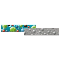 "Holographic Border, 3"" x 33"", Circles and Dots; Silver Dots"