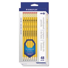 Woodcase Pencil, Graphite Lead, Yellow Barrel, 48/Pack