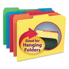 Interior File Folders, 1/3 Cut Top Tab, Letter, Assorted, 100/Box