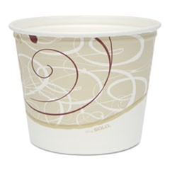 Double Wrapped Paper Bucket, Grease Resistant, Symphony, 83oz, 100/carton
