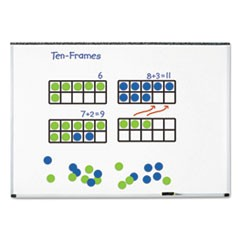 "Giant Magnetic Ten-Frame Set, 12 1/4""L x 5""H, Blue/Green"