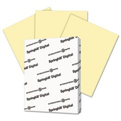 Digital Index Color Card Stock, 110 lb, 8 1/2 x 11, Canary, 250 Sheets/Pack