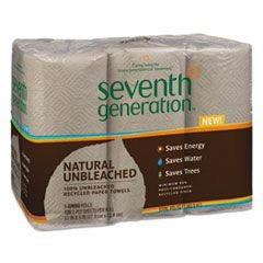 Natural Unbleached 100% Recycled Paper Towel Rolls, 11 x 9, 120 SH/RL, 24 RL/CT