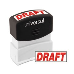 Message Stamp, DRAFT, Pre-Inked One-Color, Red