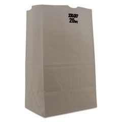 White Paper Bags, Squat Standard-Duty, 20 lb., 8 1/4 x 13 3/8, White, 500/Carton