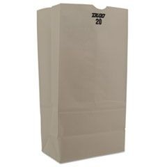 White Paper Bags, Tall Standard-Duty, 20 lb., 8 1/4 x 16 1/8, White, 500/Carton