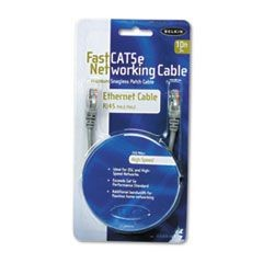 FastCAT 5e Snagless Patch Cable, RJ45 Connectors, 10 ft., Gray