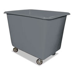 8 Bushel Poly Truck w/Galvanized Steel Base, 26 x 38 x 28 1/2, 800 lbs Cap, Gray