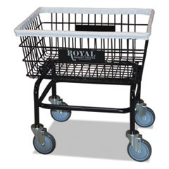 Small Wire Laundry Cart, 21 x 26 x 26 1/2, 200 lbs. Capacity, Black