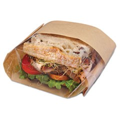 Dubl View Sandwich Bags, 2.35 mil, 9 1/2 x 5 3/4 x 2 3/4, Natural Brown, 500/CT